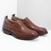 Brązowe skórzane mokasyny męskie bata, brązowy, 816-3628 - 26