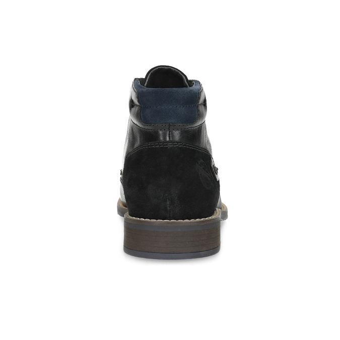 Skórzane obuwie męskie za kostkę bata, czarny, 826-6611 - 15