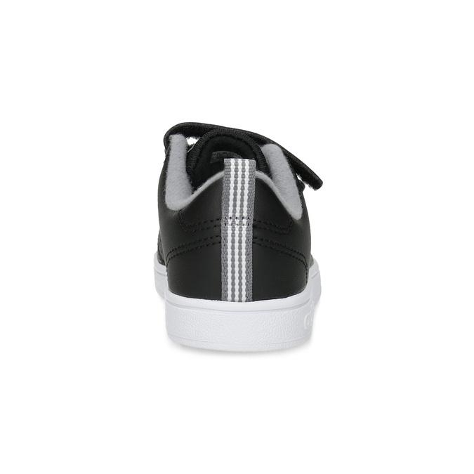 Czarne trampki dziecięce na rzepy adidas, czarny, 301-6268 - 15