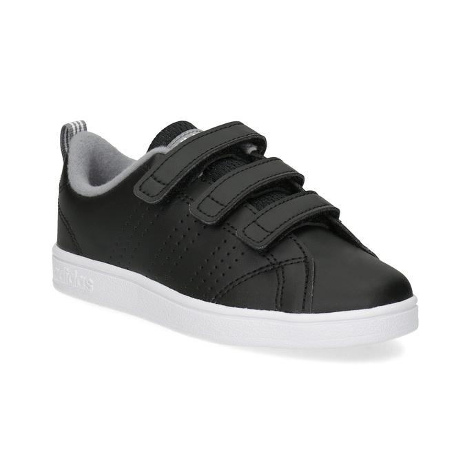 Czarne trampki dziecięce na rzepy adidas, czarny, 301-6268 - 13