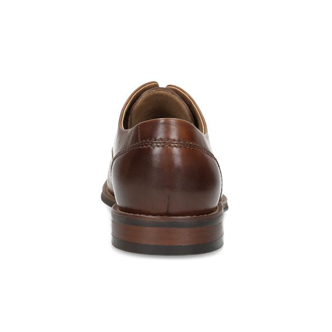 Brązowe skórzane półbuty typu angielki bata, brązowy, 826-3786 - 15