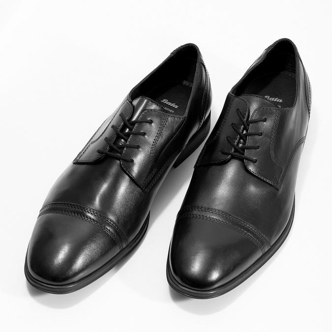 Czarne skórzane półbuty męskie typu angielki bata, czarny, 824-6891 - 16
