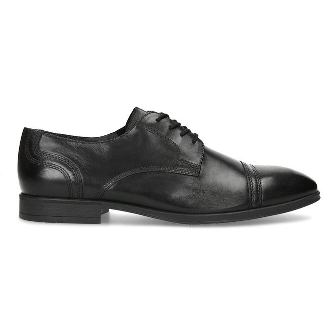 Czarne skórzane półbuty męskie typu angielki bata, czarny, 824-6891 - 19