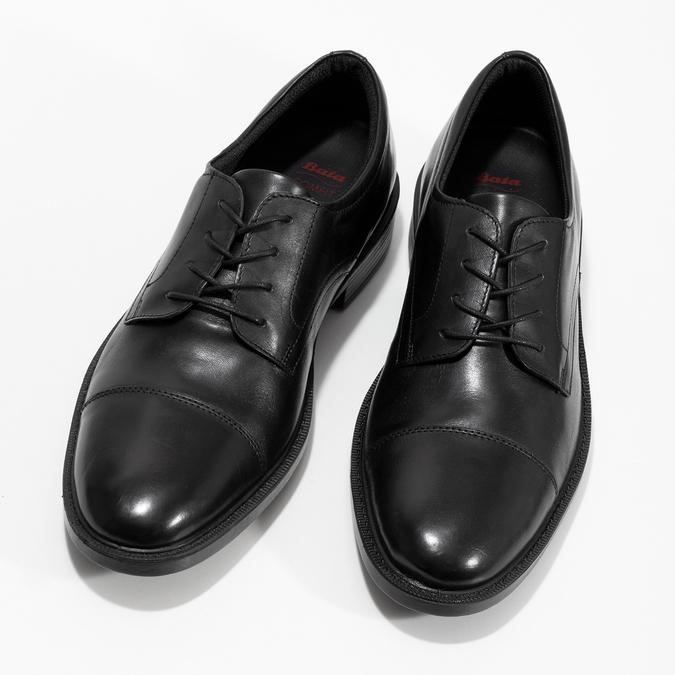 Czarne skórzane półbuty męskie comfit, czarny, 824-6820 - 16