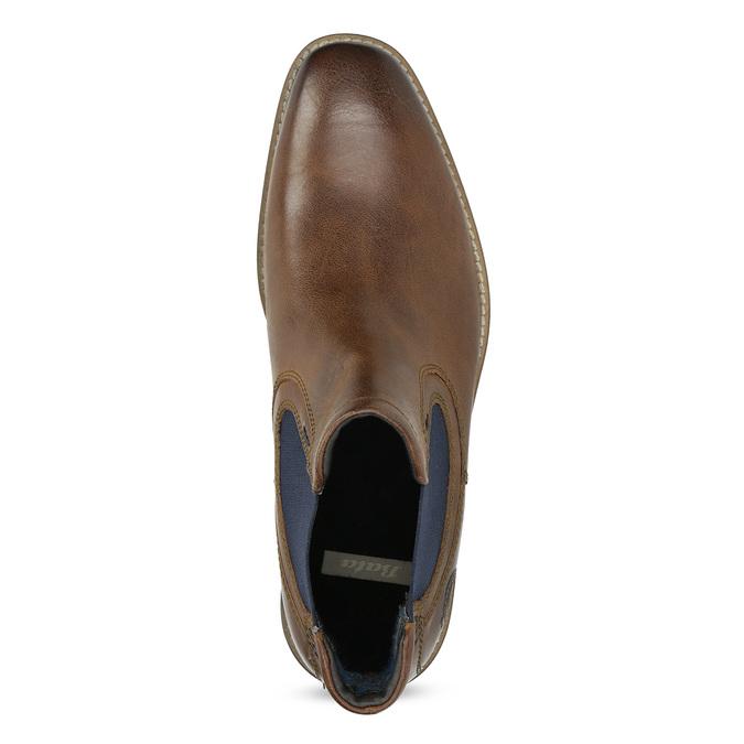 Skórzane obuwie męskie typu chelsea bata, brązowy, 826-3865 - 17