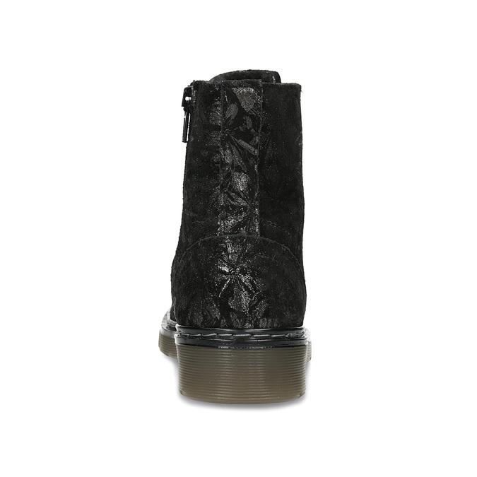 Skórzane botki dziecięce wdeseń mini-b, czarny, 426-2560 - 15