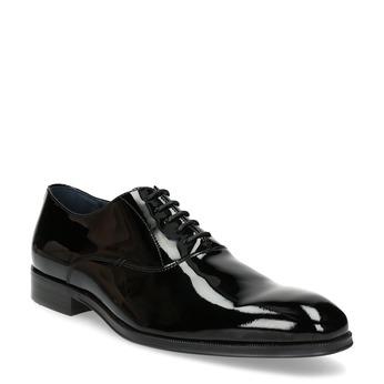 Lakierowane skórzane półbuty męskie typu oksfordy bata, czarny, 828-6608 - 13