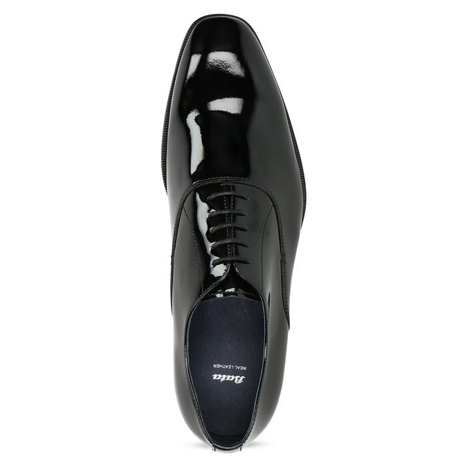 Lakierowane skórzane półbuty męskie typu oksfordy bata, czarny, 828-6608 - 17