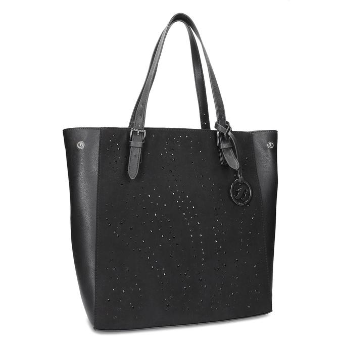 Czarna torebka zkryształkami, wstylu tote bag bata, czarny, 969-6875 - 13