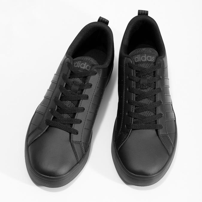 Czarne trampki męskie na płaskiej podeszwie adidas, czarny, 801-6236 - 16
