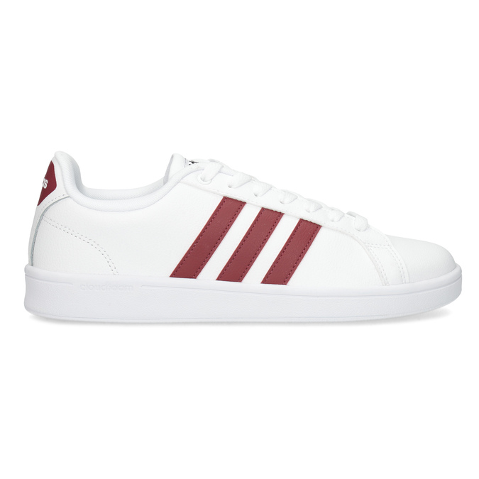 Białe trampki męskie zbordowymi elementami adidas, biały, 801-5378 - 19