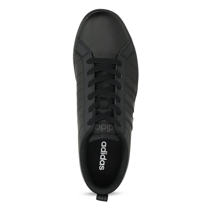 Czarne trampki męskie na płaskiej podeszwie adidas, czarny, 801-6236 - 17