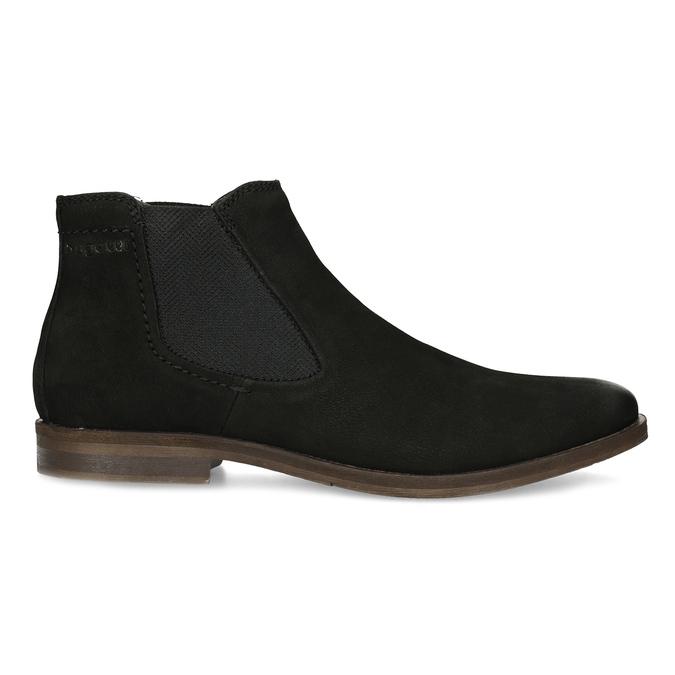 Czarne zamszowe obuwie męskie typu chelsea bugatti, czarny, 819-6025 - 19