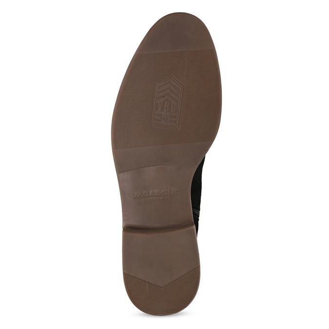 Czarno-brązowe skórzane obuwie męskie za kostkę vagabond, czarny, 826-6153 - 18