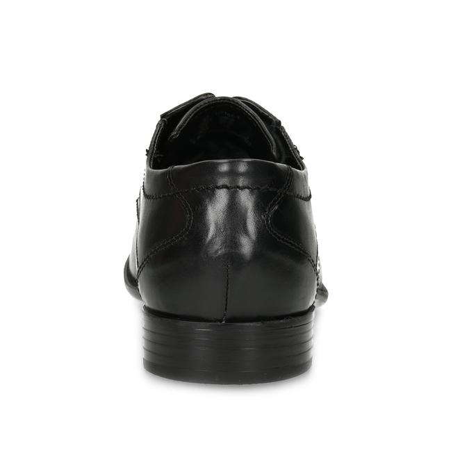 Czarne skórzane półbuty męskie typu angielki bugatti, czarny, 824-6087 - 15