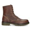 Brązowe skórzane botki damskie bata, brązowy, 596-4732 - 19