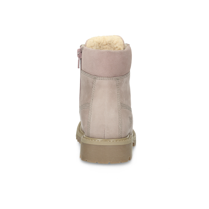 Różowe skórzane botki weinbrenner-junior, różowy, 326-5608 - 15