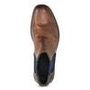 Brązowe skórzane obuwie za kostkę bugatti, brązowy, 816-4065 - 17