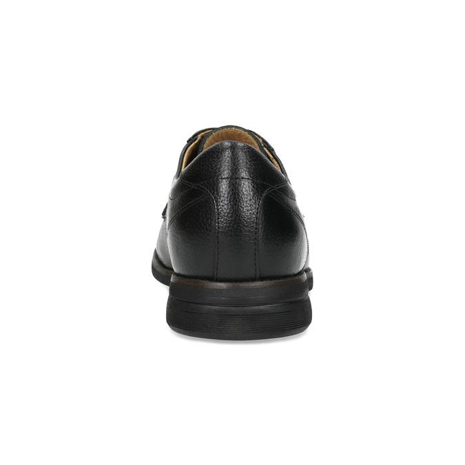 Nieformalne skórzane półbuty typu angielki comfit, czarny, 824-6974 - 15