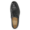 Czarne skórzane mokasyny wstylu penny loafers comfit, czarny, 814-6627 - 17