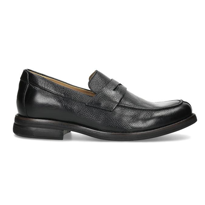 Czarne skórzane mokasyny wstylu penny loafers comfit, czarny, 814-6627 - 19