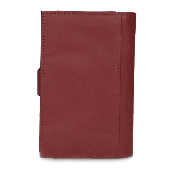 Damski skórzany portfel bata, czerwony, 944-5155 - 16