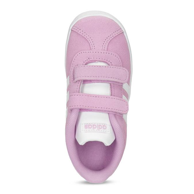 Różowe skórzane trampki dziecięce adidas, różowy, 103-5203 - 17