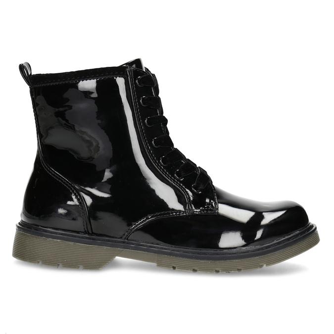 Czarne lakierowane botki dziewczęce mini-b, czarny, 391-6259 - 19