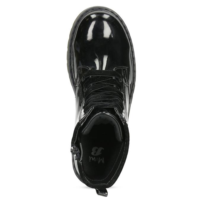 Czarne lakierowane botki dziewczęce mini-b, czarny, 391-6259 - 17