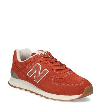 Czerwone sportowe trampki męskie new-balance, pomarańczowy, 803-5174 - 13