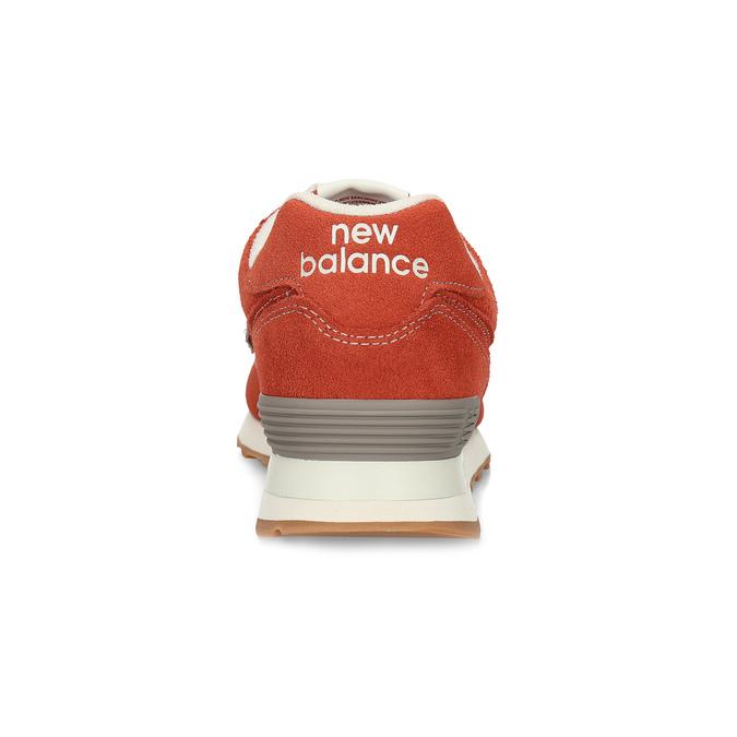 Czerwone sportowe trampki męskie new-balance, pomarańczowy, 803-5174 - 15