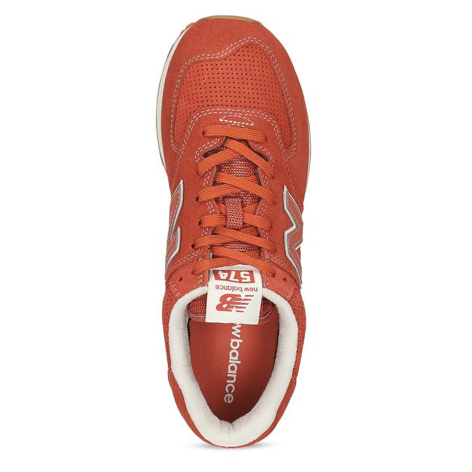 Czerwone sportowe trampki męskie new-balance, pomarańczowy, 803-5174 - 17