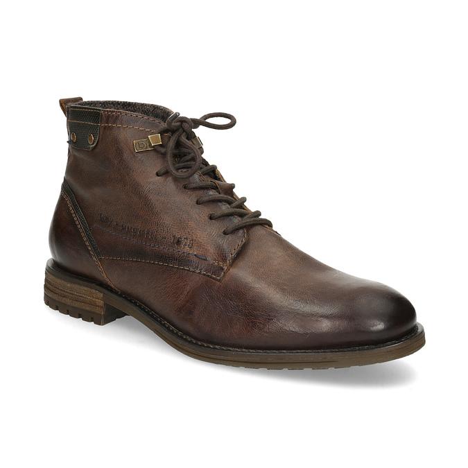 Sznurowane obuwie męskie za kostkę bugatti, brązowy, 826-4056 - 13