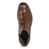 Brązowe skórzane obuwie męskie za kostkę zzamkami błyskawicznymi bugatti, brązowy, 816-4026 - 17