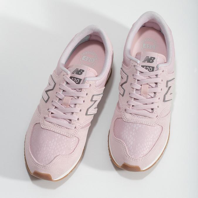 Różowe zamszowe trampki damskie new-balance, różowy, 503-5172 - 16