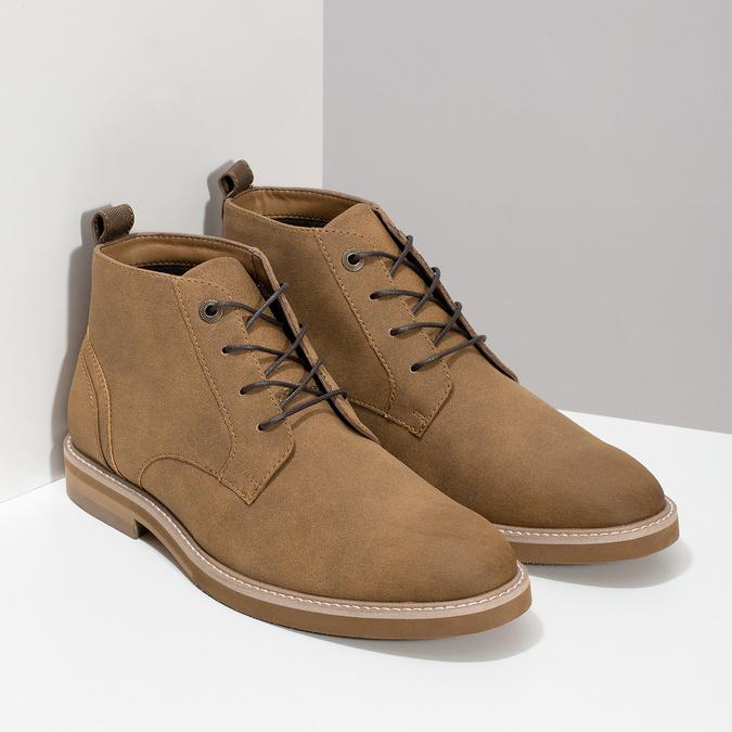 Beżowe obuwie męskie za kostkę bata-red-label, brązowy, 821-3608 - 26