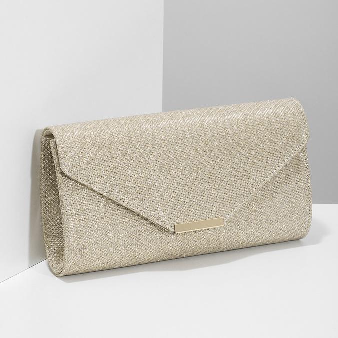 Złota kopertówka damska bata, złoty, 969-8701 - 17