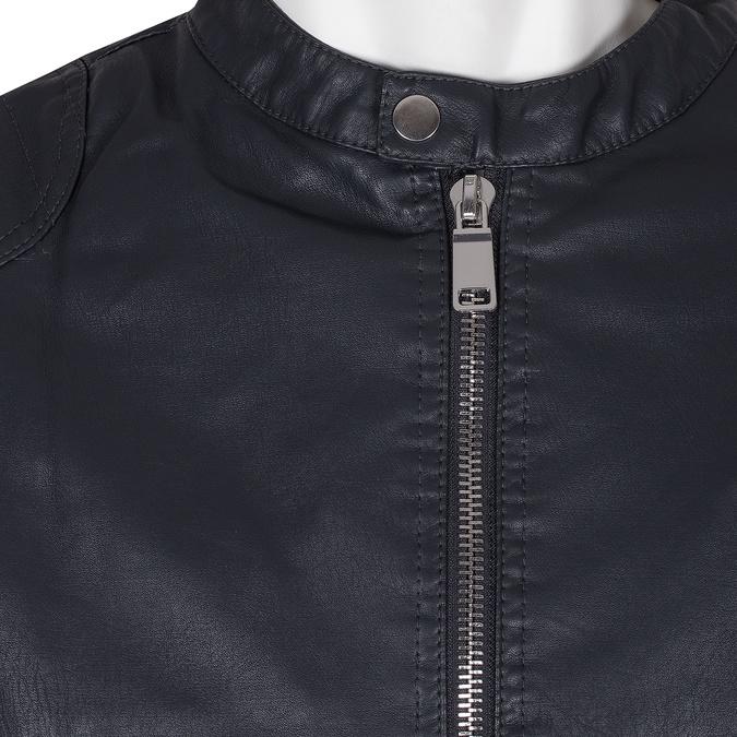 Granatowa kurtka męska zkontrastowym zamkiem błyskawicznym bata, niebieski, 971-9221 - 16