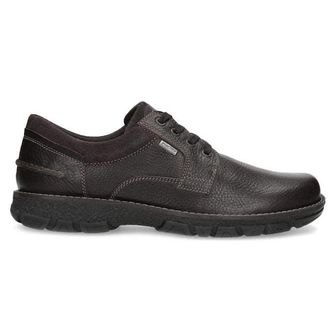 Skórzane półbuty męskie na grubej podeszwie bata, brązowy, 826-4973 - 19