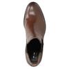 Skórzane botki damskie typu Chelsea, na obcasach bata, brązowy, 694-4667 - 17
