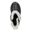 Niskie skórzane kozaki dziewczęce zfuterkiem mini-b, czarny, 396-6601 - 17