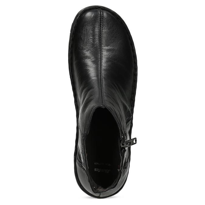 Zimowe skórzane botki damskie bata, czarny, 594-6708 - 17