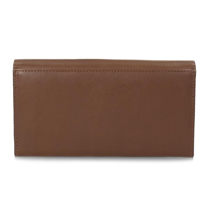 Brązowy skórzany portfel damski bata, brązowy, 944-3228 - 16