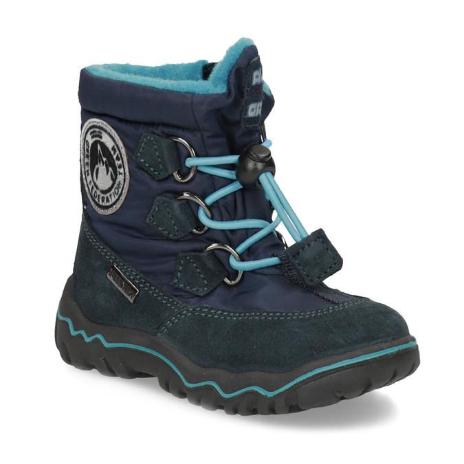 13c08b29fc7c95 Granatowe zimowe obuwie dziecięce, niebieski, 199-9604 - 13