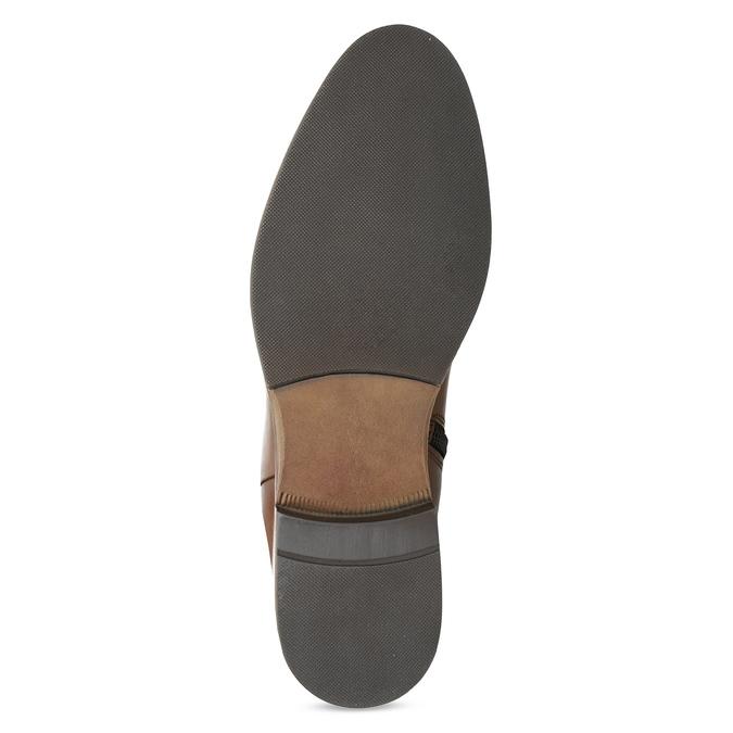 Brązowe skórzane kozaki bata, brązowy, 594-4637 - 18