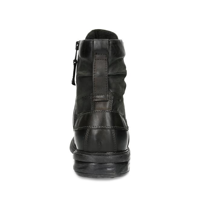 Czarne skórzane trzewiki męskie bata, czarny, 896-6743 - 15