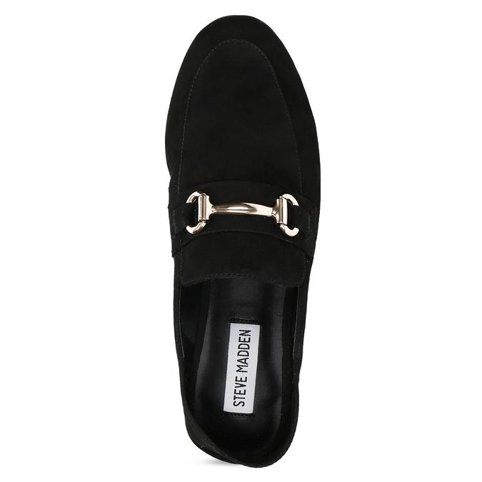 Czarne zamszowe loafersy damskie steve-madden, czarny, 513-6026 - 17