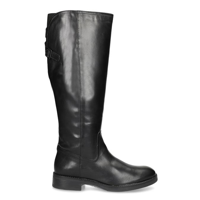 Czarne skórzane kozaki zklamrami bata, czarny, 594-6678 - 19