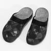 Czarne kapcie męskie bata, czarny, 879-6619 - 16