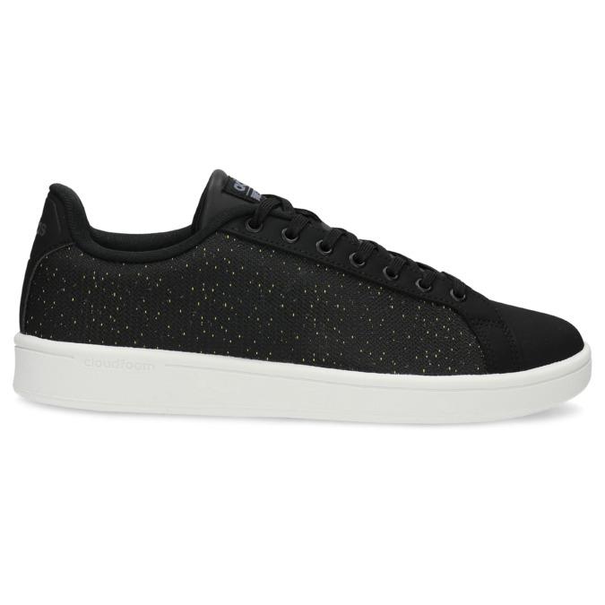 Czarne trampki męskie wdeseń adidas, czarny, 809-6104 - 19
